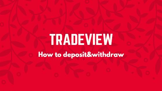 tradeview 入金 出金
