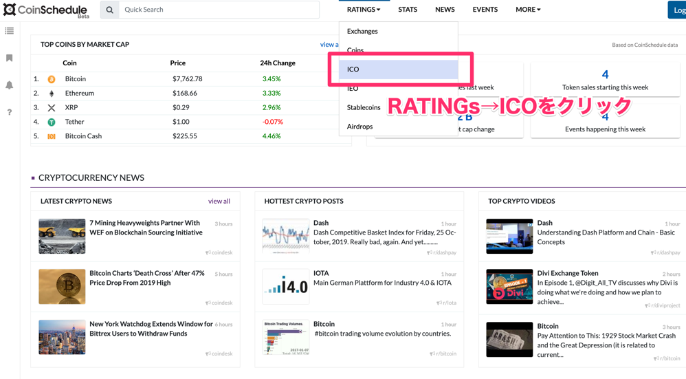 Blockchain Projects and Events Prices ICOs IEOs Exchanges News CoinSchedule