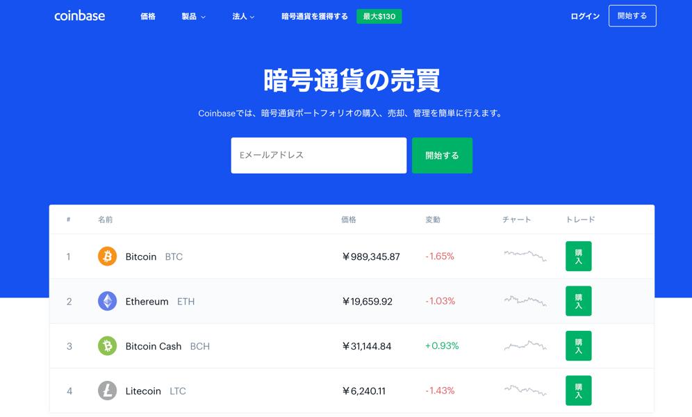 Coinbase ビットコインやイーサリアムなどの暗号通貨を安心して売買