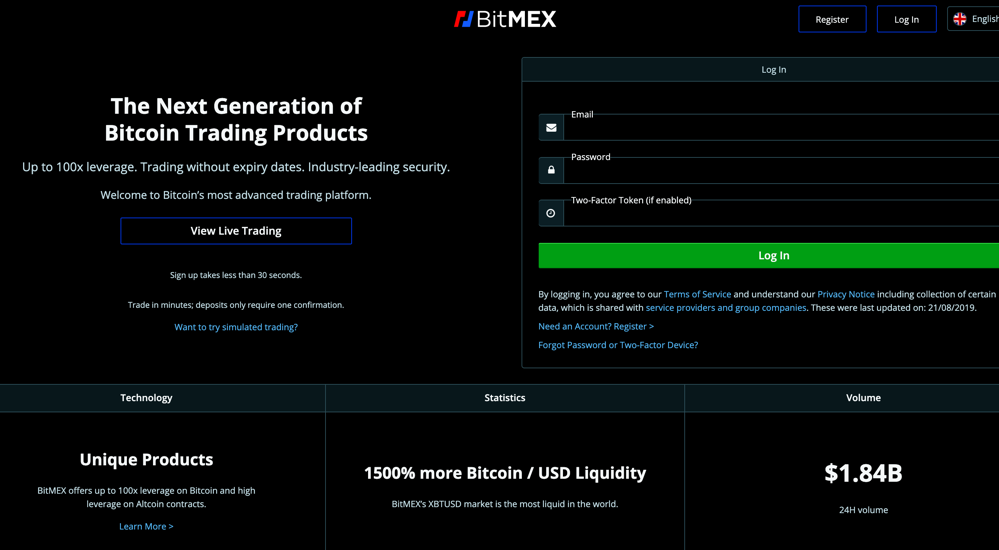 BitMEX Bitcoin Mercantile Exchange P2P Trading Up To 100x Leverage